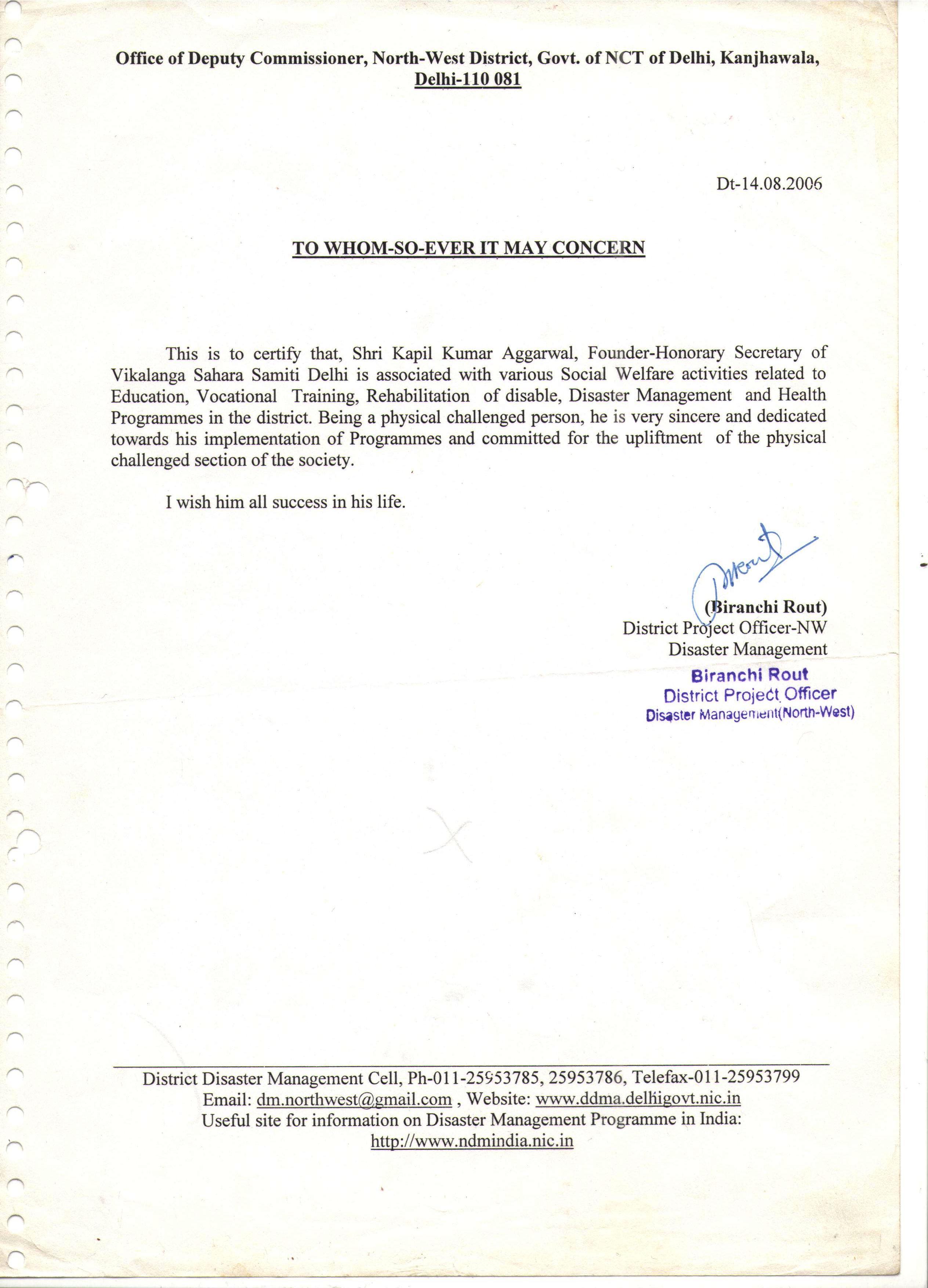 Awards to Our General Secretary – Viklang Sahara Samiti