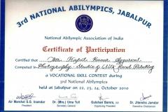 certificate anational abilympics jabalpur