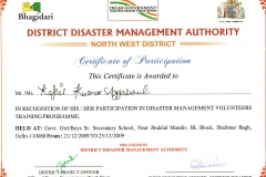 certificate district disaster management