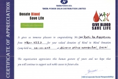 certificate donate blood