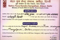 certificate nyk yuva kriti